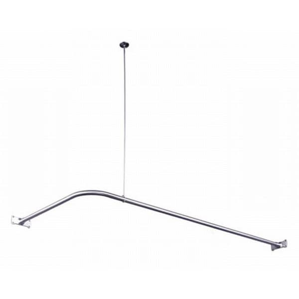 Chrome Corner Shower Rod - Free Shipping Today - Overstock.com ...