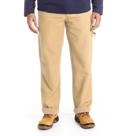 Stanley Men's Big and Tall Canvas Fleece Lined Carpenter Pant