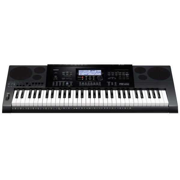 shop casio ctk 7200 61 key portable digital piano black free shipping today overstock. Black Bedroom Furniture Sets. Home Design Ideas