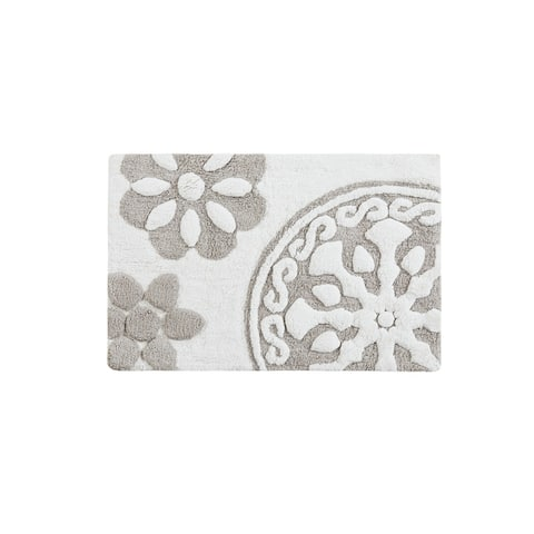 Madison Park Marrakesh Cotton Medallion Tufted Rug (Round or 20 x 30-inch)