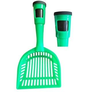 Pet Life Poopin-Scoopin Dog And Cat Pooper Scooper Litter Shovel With Built-In Waste Bag Handle Holster