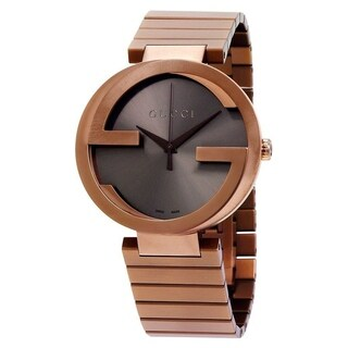 Gucci Women's YA133211 'Interlocking-G XL' Brown Stainless Steel Watch