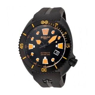 Zodiac Men's 'Oceanaire' Automatic Black Rubber Watch