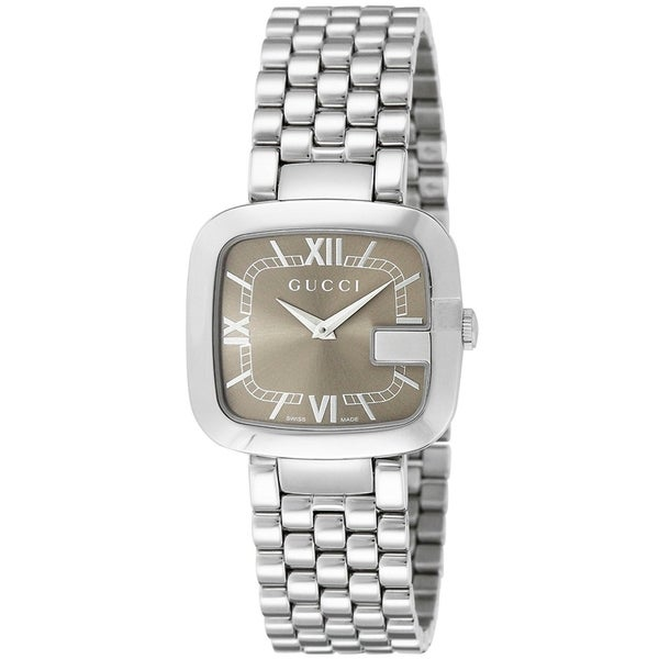 b24c8869279 Shop Gucci Women s YA125413  G-Gucci  Stainless Steel Watch - brown - Free  Shipping Today - Overstock - 17767364