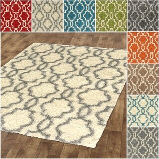 Kapaqua Moroccan Trellis Shag Area Rug ( 5' x 7' ) (More options available)
