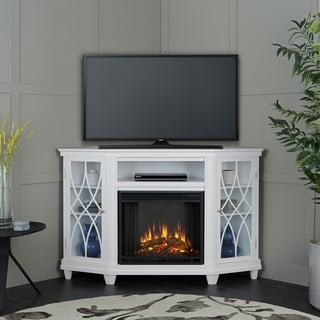 Real Flame Lynette White High Electric Fireplace