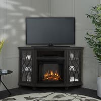 Lynette Electric Fireplace Gray by Real Flame - N/A