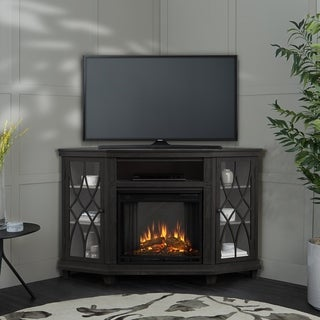 Lynette Electric Fireplace Gray by Real Flame - 56.26L x 34.69W x 36.26H