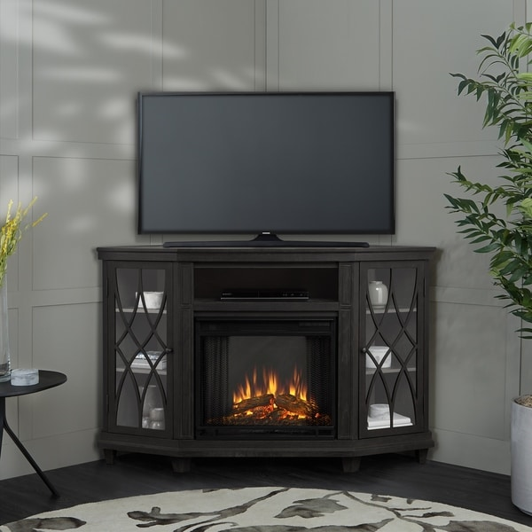 Real Flame Lynette Grey 56.26-inch Long x 34.69-inch Wide x 36.26-inch High Electric Fireplace
