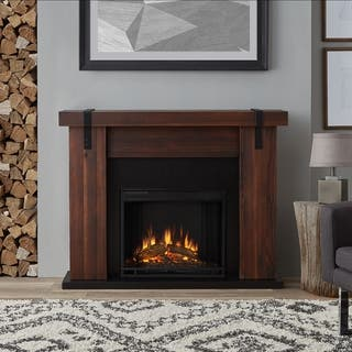 Real Flame Aspen Chestnut Barnwood Solid Wood/Veneer Electric Fireplace|https://ak1.ostkcdn.com/images/products/17767385/P23965695.jpg?impolicy=medium