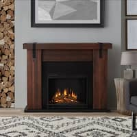 Real Flame Aspen Electric Fireplace Chestnut Barnwood