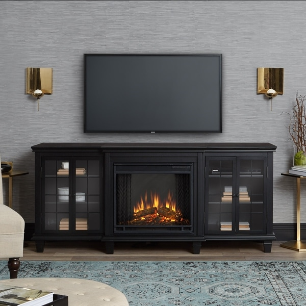 Real Flame Marlowe Black Electric Fireplace - Free Shipping Today ...