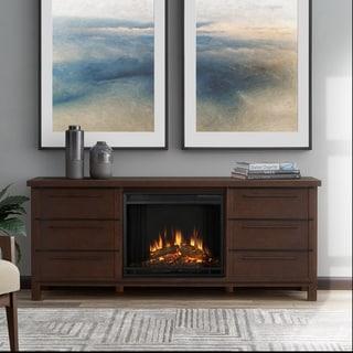 Parsons Electric Fireplace Chestnut Oak