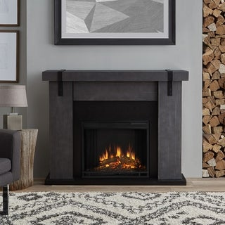 Real Flame Aspen Barnwood Electric Fireplace Grey Barnwood