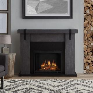 Aspen Electric Fireplace Gray Barnwood