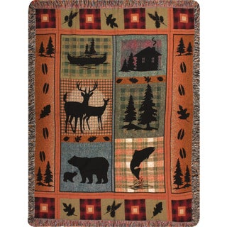 Manual Outdoor Lodge Tapestry Throw