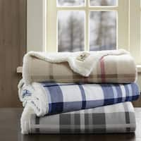 Woolrich Plush to Berber Printed Plaid Throw