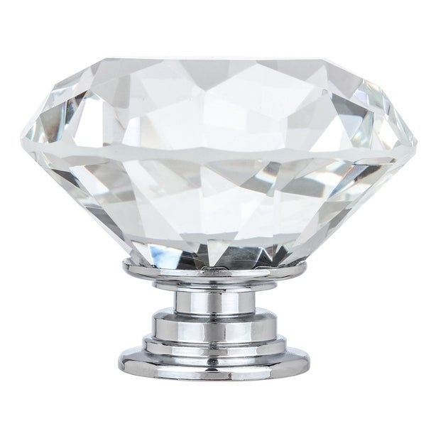 1 5 8 Solid Clear Round Diamond Cut Shape Crystal Gl Kitchen Amp