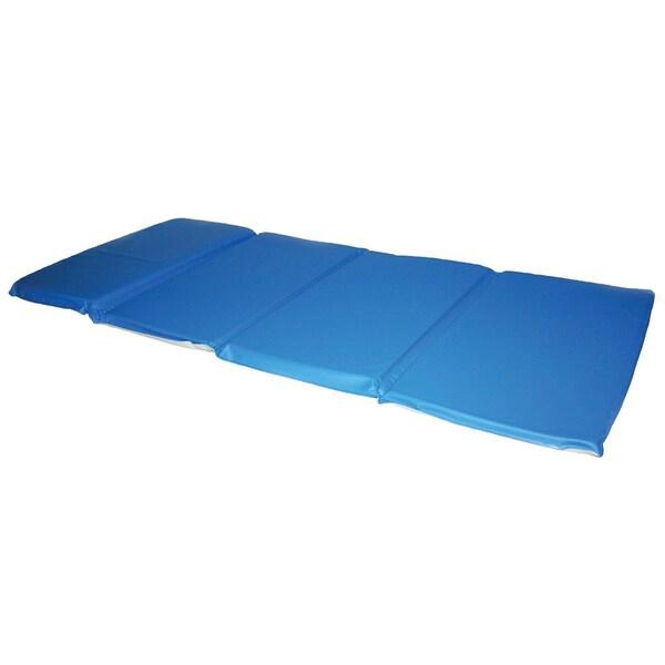 Shop Toddler Kindermat Blue Grey 2 Inch Thick Nap Mat
