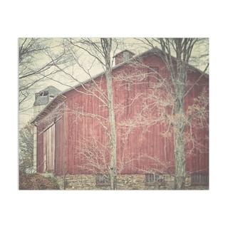 Red Barn Handmade Paper Print