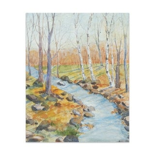 Country stream Handmade Paper Print