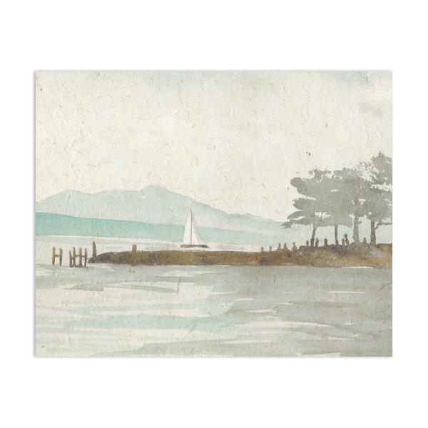 Sail boat Handmade Paper Print