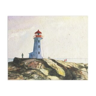 Light House Handmade Paper Print