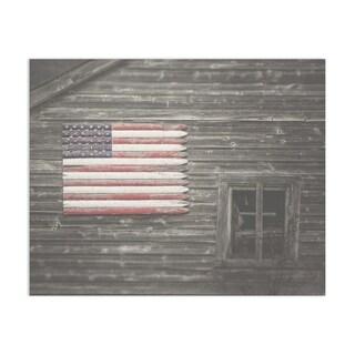 Flag Barn Handmade Paper Print