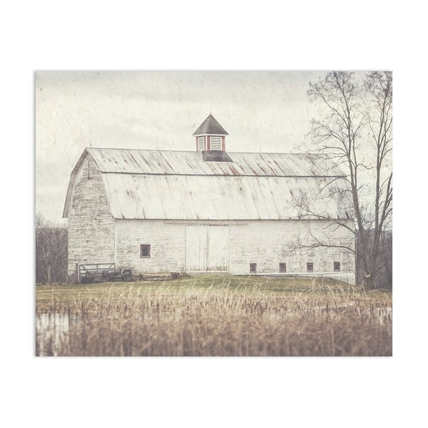 Pond Barn Handmade Paper Print
