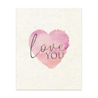 Love You Handmade Paper Print