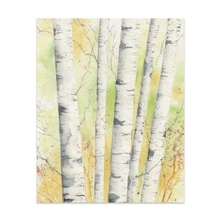 Autumn Birch Handmade Paper Print