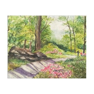 Peaceful Garden Handmade Paper Print
