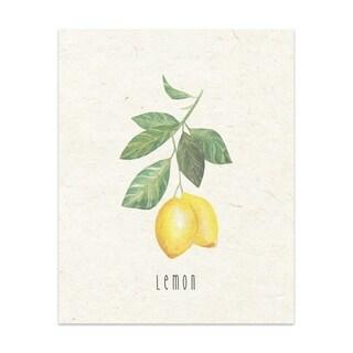 Lemon 2 Handmade Paper Print