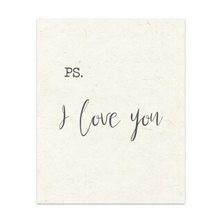Ps I Love You Handmade Paper Print