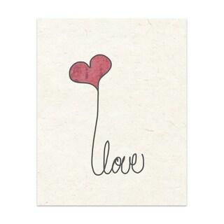 Love A Handmade Paper Print