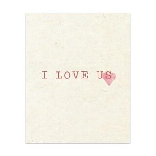 I Love Us Pillow Handmade Paper Print
