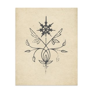 North Star Handmade Paper Print