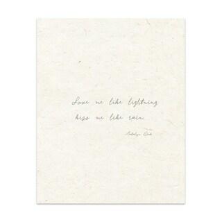 Love Me Like Lightning Handmade Paper Print