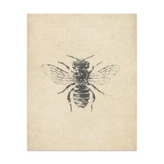 Bee Handmade Paper Print