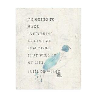 Make Life Beautiful Handmade Paper Print