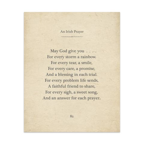 Irish Prayer Handmade Paper Print