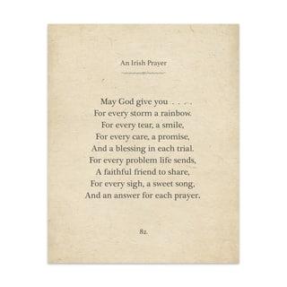Irish Prayer Handmade Paper Print