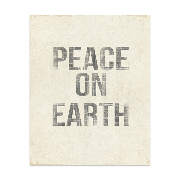 Kavka Designs Peace On Earth Handmade Paper Print