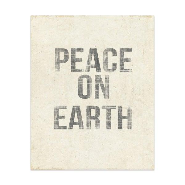 PEACE ON EARTH Handmade Paper Print By Terri Ellis