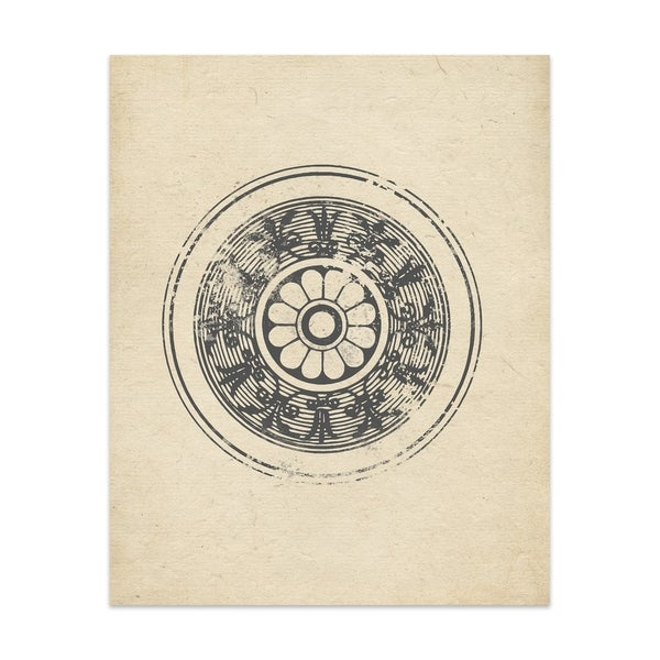 Floral Wheel Handmade Paper Print