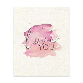 Love You 2 Handmade Paper Print