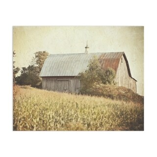 Farmhouse Barn Autumn Harvest Handmade Paper Print By Lisa Russo