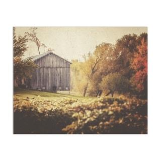 Farmhouse Barn Autumn Vineyard Handmade Paper Print By Lisa Russo