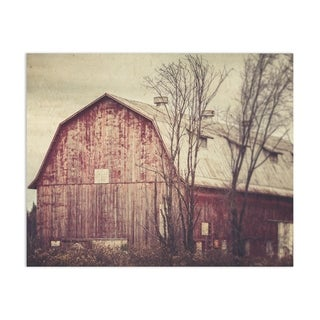 Farmhouse Barn Red Abandoned Handmade Paper Print By Lisa Russo