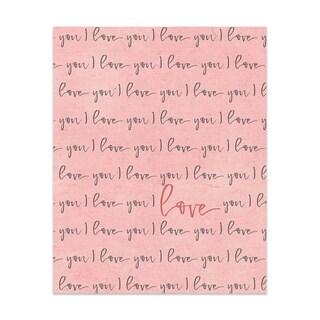 I Love You Handmade Paper Print